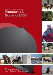 Ridsport på Gotland 2008 - Idrottens Ö