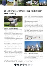 Erland Knudssøn Madsen appetitvækker - Geocaching - Norsby.dk