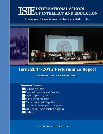 Download the Term Report - ISIE