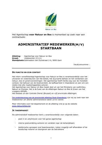 ADMINISTRATIEF MEDEWERKER STARTBAAN - Inverde