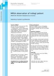 MRSA observation af indlagt patient - EPIS - Gentofte Hospital