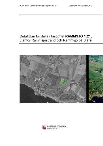 Detaljplan för del av fastighet RAMMSJÖ 1:21 ... - Båstads kommun