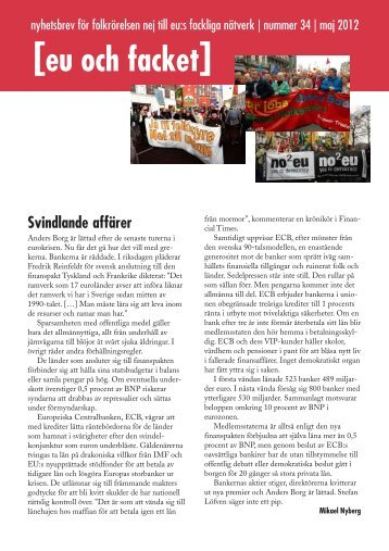 Läs mer (pdf) - Folkrörelsen Nej till EU