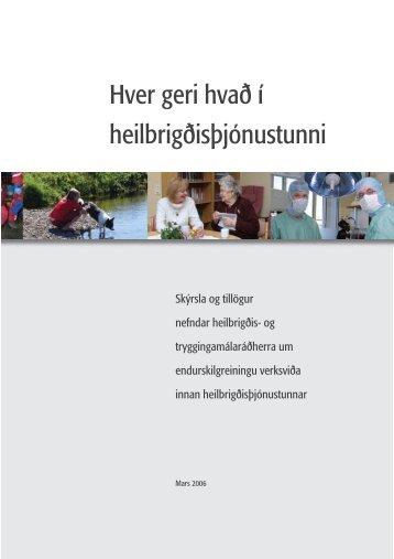 Hver geri hvað í heilbrigðisþjónustunni