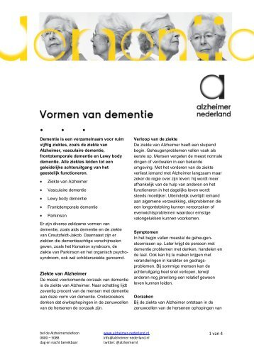 Vormen van dementie.pdf - Alzheimer Nederland