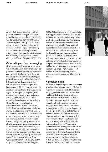 De campus als publiek domein - Rooilijn