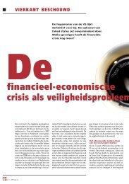 Welke gevolgen heeft de financiële crisis nog meer? - Nederlandse ...
