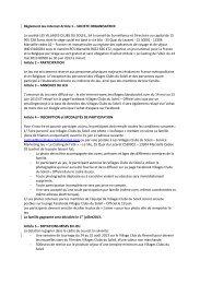 Règlement Jeu Internet Article 1 – SOCIETE ORGANISATRICE La ...