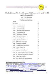 AFAs brytningspunkter for bakteriers antibiotikafølsomhet - UNN