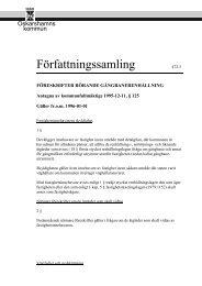 Föreskrifter rörande gångbanerenhållning - Oskarshamn
