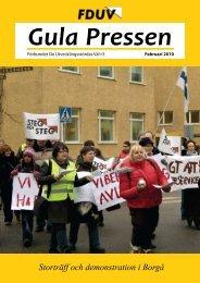 Gula Pressen februari 2010 - Förbundet De Utvecklingsstördas Väl