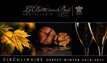 Culinaire Agenda Herfst-Winter 2010-2011 - Hostellerie La Butte ...