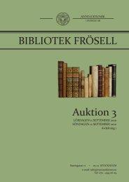 Auktion 3 BIBLIOTEK FRÖSELL