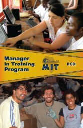 Manager in Training Program - Planet Aid