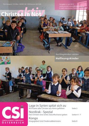 """""""Christen in Not""""-Ausgaben Nr. 4/Juni 2012 - CSI Österreich"""