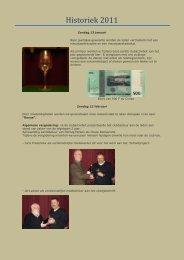 Historiek 2011 - Numismatica Herentals