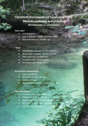 Chronisch Vermoeidheid Syndroom-protocolkaart. - medisch fitness