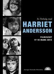 Program - Sveriges Förenade Filmstudios