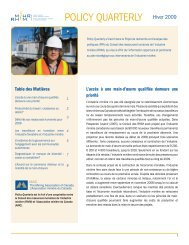 POLICY QUARTERLY Hiver 2009 - MiHR
