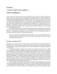Afrika - Arbetarrörelsens arkiv och bibliotek