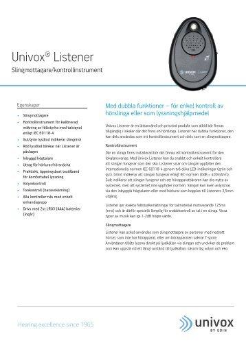 Univox® Listener - Bo Edin AB