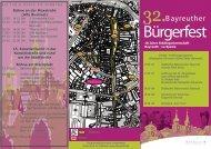 Programmflyer zum Bürgerfest - Stadt Bayreuth