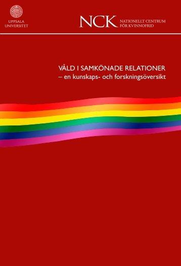 Våld i samkönade relationer – en kunskaps- och forskningsöversikt
