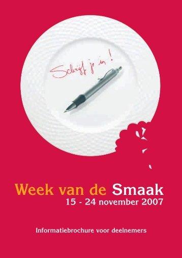 brochure Week van de Smaak 2007 - FOV