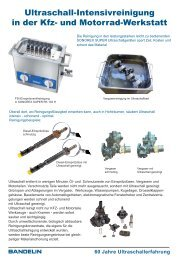 Zubehör für SONOREX SUPER Ultraschall ... - Bandelin electronic