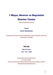 1 Mayıs, Newroz ve Bayramlar Üzerine Yazılar - Köxüz