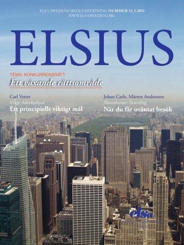 ELSIUS nr 13 - ELSA Sweden