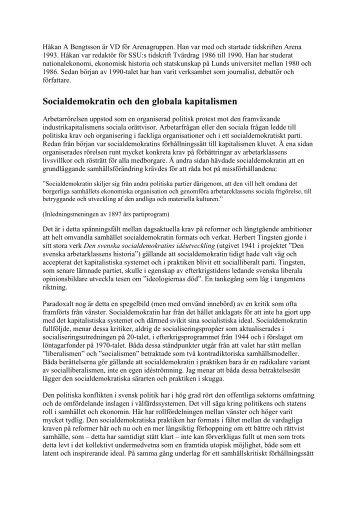 Socialdemokratin och den globala kapitalismen - Socialdemokraterna