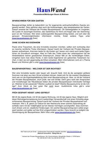 Hauswand - Verband der privaten Bausparkassen