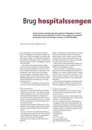 Brug hospitalssengen