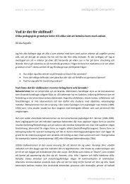 Artikel 5: Vad är det för skillnad - Pedagogiskt Perspektiv