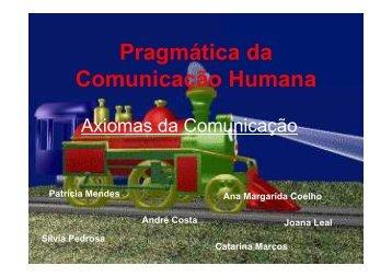 Axiomas (Pragmática da Comunicação Humana) - Faculdade de ...