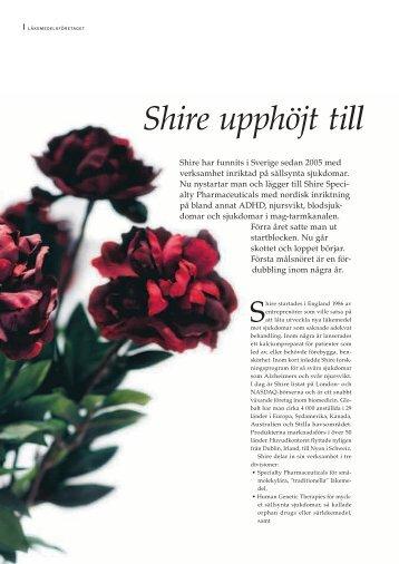 Shire upphöjt till två - Pharma Industry