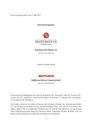 CH-Programm Notenstein Privatbank 2013