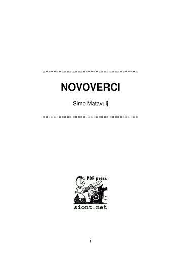 NOVOVERCI / Simo Matavulj - Sahwa