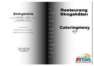Cateringmeny - Ansia