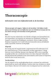 Thoracoscopie [75kb] Longziekten - Tergooi