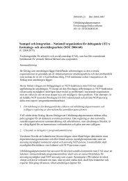 Samspel och integration – Nationell organisation för ... - FAS