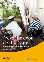 Onderzoeksrapport 'Preventie door de thuiszorg' - Actiz