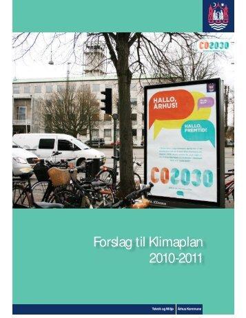 Forslag til Klimaplan 2010-2011 - Velkommen til Århus Kommune
