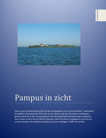 Pampus in zicht - Forteiland Pampus