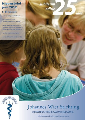 Nieuwsbrief Mensenrechten & Gezondheidszorg van juni 2012