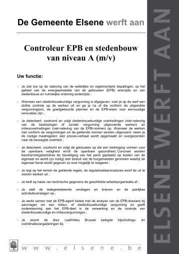 Een controleur EPB en stedenbouw (m/v) - Elsene