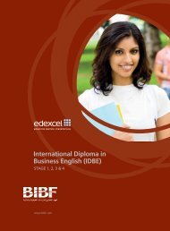 International Diploma in Business English (IDBE) - Bahrain Institute ...