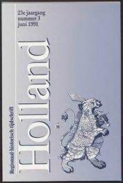 23e jaargang nummer 3 juni 1991 - Holland Historisch Tijdschrift