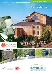Gruppenreisen 2013 - Stadt Bayreuth